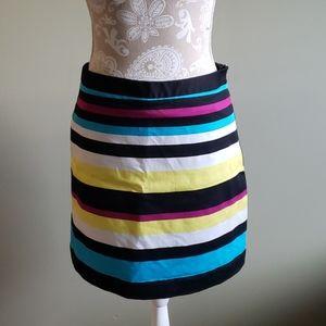 Striped multi color skirt